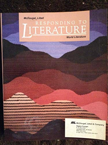9780812370836: Responding to Literature: World Literature