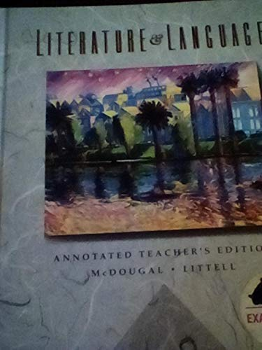 Literature and Language, Grade 9 Annotated Teacher's: Jane N Beatty