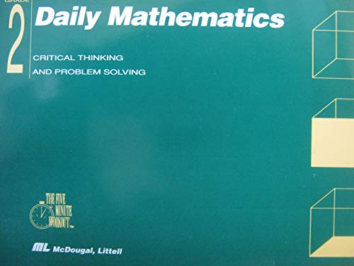 9780812375954: Daily Mathematics: Critical Thinking and Problem Solving - Grade 2 [Teacher's Manual]