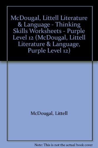 9780812382860: McDougal, Littell Literature & Language - Thinking Skills Worksheets - Purple Level 12 (McDougal, Littell Literature & Language, Purple Level 12)