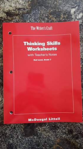 The Writer's Craft, Thinking Skills Worksheets: Mcdougal Littell