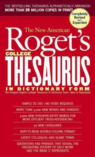 9780812416541: New American Roget's College Thesaurus in Dictionary Form