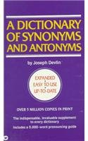 9780812444636: A Dictionary of Synonyms and Antonyms