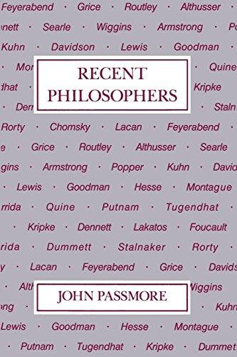 9780812691429: Recent Philosophers