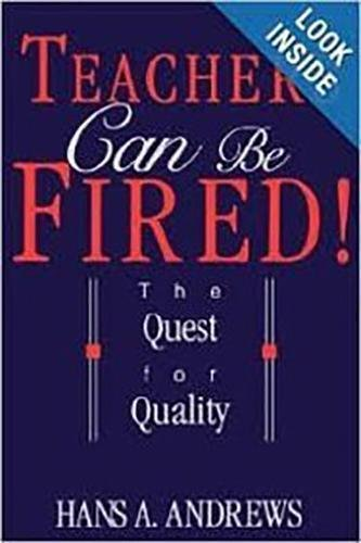 9780812692808: Teachers Can Be Fired!: The Quest For Quality