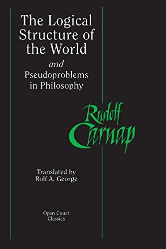 9780812695236: The Logical Structure of the World and Pseudoproblems in Philosophy (Open Court Classics)