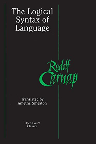 9780812695243: The Logical Syntax of Language (Open Court Classics)
