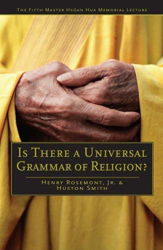 Is There a Universal Grammar of Religion? Format: Trade Paper