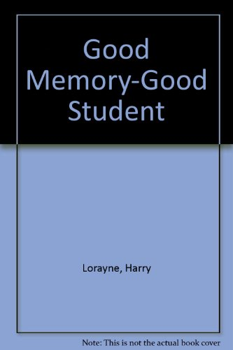9780812820072: Good Memory-Good Student