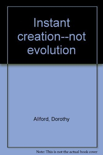 9780812821598: Instant Creation Not Evol