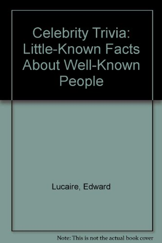 9780812881875: Celebrity Trivia: Little-Known Facts About Well-Known People