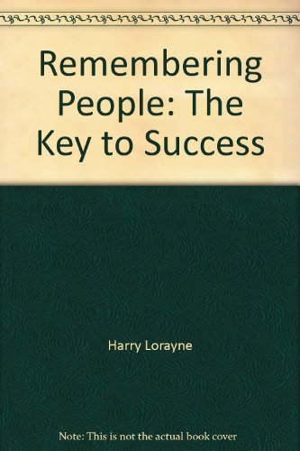 9780812885576: Remembering People: The Key to Success