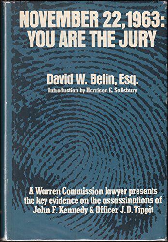 November 22, 1963;: You Are the Jury: Belin, David W.