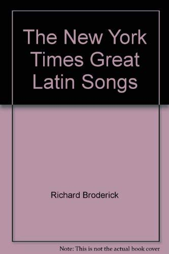 9780812903775: The New York Times Great Latin Songs