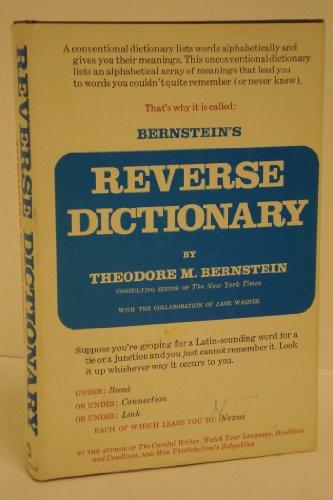 9780812905663: Bernstein's Reverse Dictionary