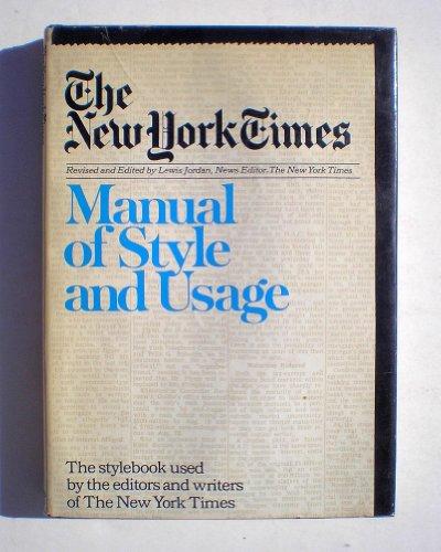 New York Times Manual of Style: Jordan, Lewis