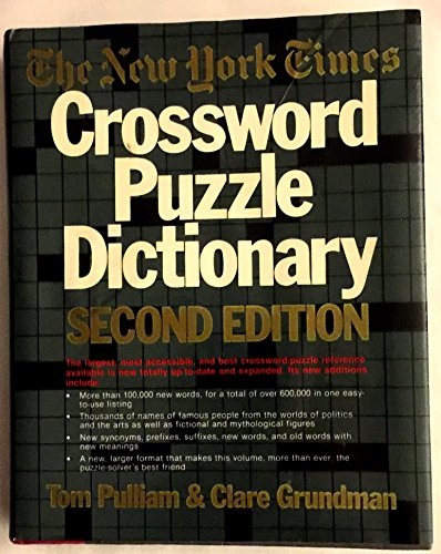 New York Times Crossword Puzzle Dictionary (2nd ed) (Puzzle Reference)