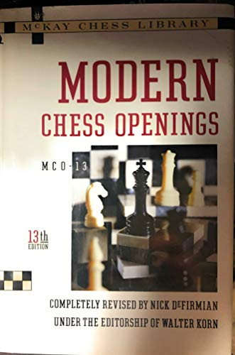 9780812917307: Modern Chess Openings (Mckay Chess Library)