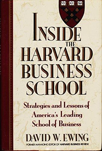 9780812918274: Inside the Harvard Business School