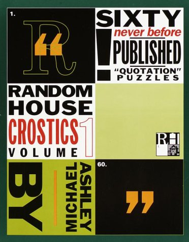 9780812927689: Random House Crostics, Volume 1 (Other)
