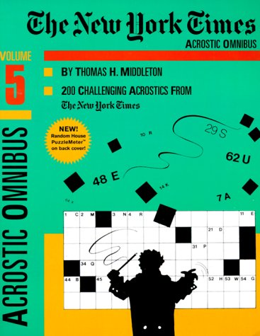 9780812931785: New York Times Acrostic Omnibus, Volume 5, The
