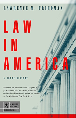 9780812972856: Law in America: A Short History (Modern Library Chronicles)