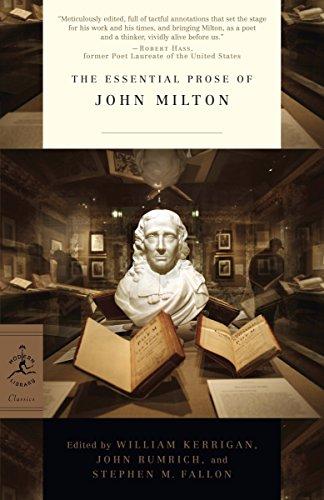 9780812983722: The Essential Prose of John Milton (Modern Library Classics)