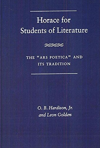 9780813013541: Horace for Students of Literature: