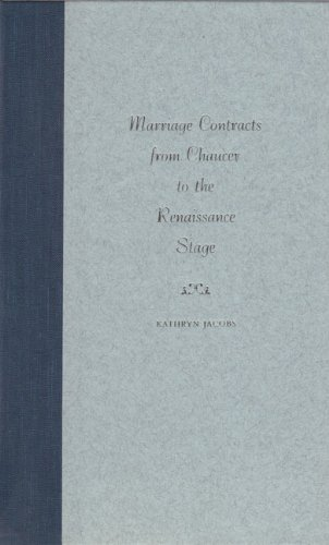 9780813021027: Marriage Contracts from Chaucer to the Renaissance Stage