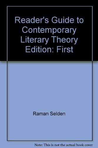 9780813101675: Reader's Guide to Contemporary Literary Theory Edition: First