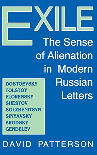 9780813118888: Exile: The Sense of Alienation in Modern Russian Letters