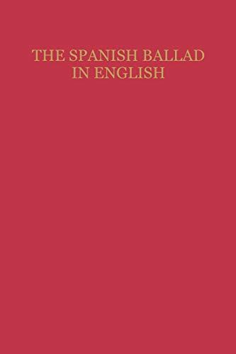9780813151540: The Spanish Ballad in English (Studies In Romance Languages)