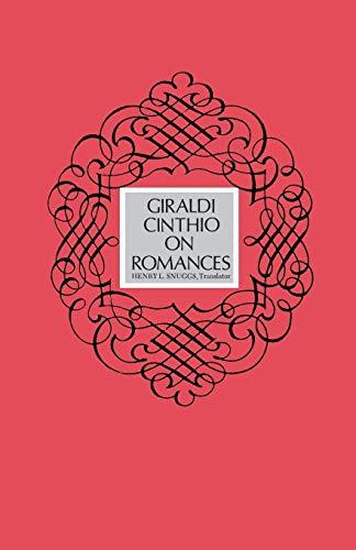 9780813154756: Giraldi Cinthio on Romances