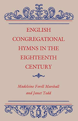9780813156170: English Congregational Hymns in the Eighteenth Century