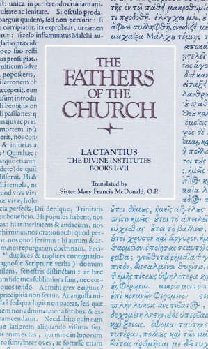 9780813200491: Divine Institutes (Fathers of the Church Series Vol 49) (Bks. 1-7)