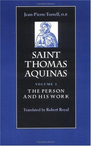 9780813208534: 1: Saint Thomas Aquinas: The Person and His Work
