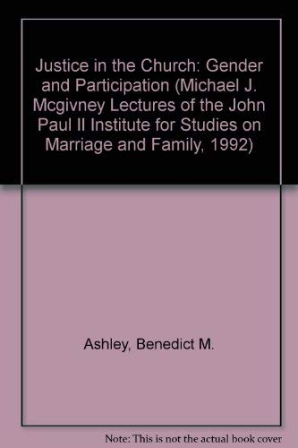 9780813208572: Justice in the Church: Gender and Participation