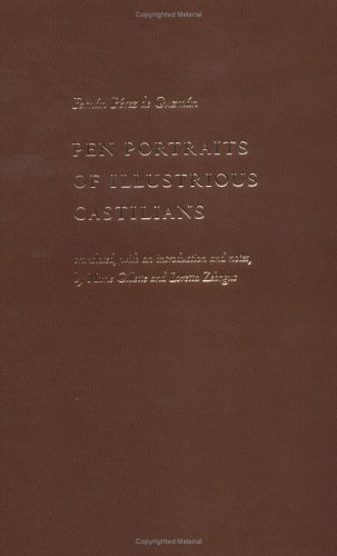 9780813213255: Pen Portraits of Illustrious Castilians (Medieval Translation)