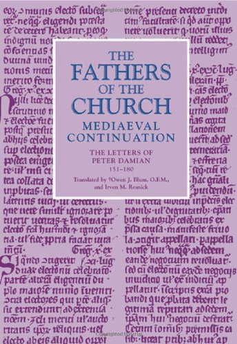 9780813214252: The Letters of Peter Damian, 151-180 (Fathers of the Church: Mediaeval Continuation)