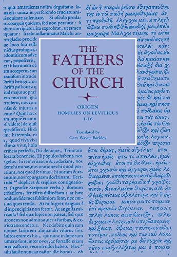9780813214320: Homilies on Leviticus, 1-16 (Fathers of the Church Patristic Series)