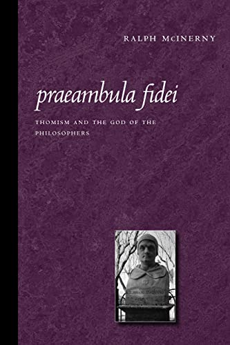 9780813214580: Praeambula Fidei: Thomism And the God of the Philosophers