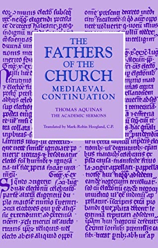 9780813217284: The Academic Sermons (Fathers of the Church Medieval Continuations)
