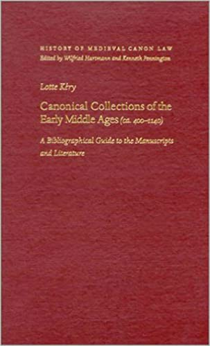9780813221908: Canonical Collections of the Early Middle Ages (ca. 400-1400): A Bibliographical Guide to the Manuscripts and Literature (History of Medieval Canon Law)