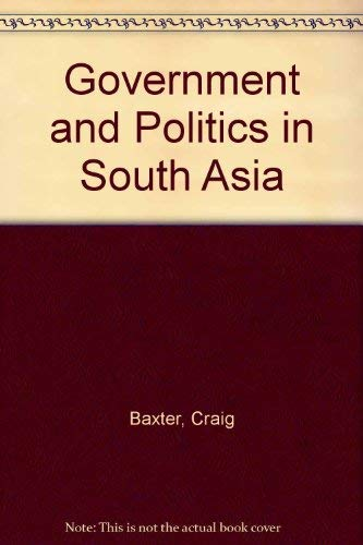 9780813301846: Government And Politics In South Asia