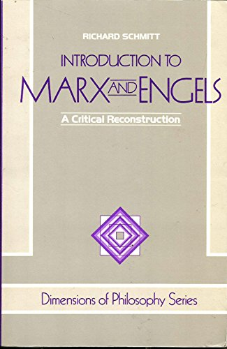 9780813304267: Introduction To Marx And Engels: A Critical Reconstruction (Dimensions of Philosophy)