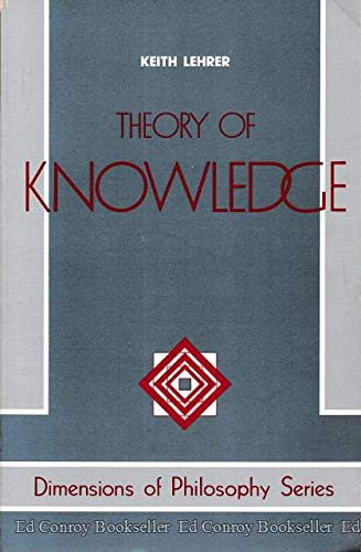 9780813305714: Theory Of Knowledge (Dimensions of Philosophy Series)