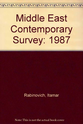 9780813309255: Middle East Contemporary Survey, Volume Xi, 1987