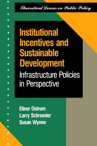 9780813316192: Institutional Incentives And Sustainable Development: Infrastructure Policies In Perspective (Theoretical Lenses on Public Policy)