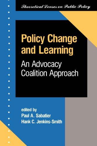 9780813316499: Policy Change And Learning: An Advocacy Coalition Approach (Theoretical Lenses on Public Policy)