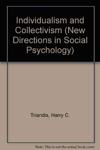 9780813318493: Individualism and Collectivism (New Directions in Social Psychology)
